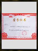 中国监所安防行业推荐品牌企业证书
