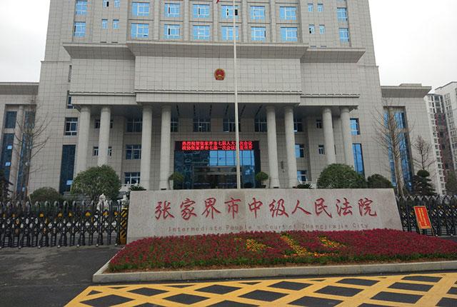 张家界中级人民法院高清监控项目